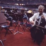 Luis Leguia plays the Carbon Fiber Cello at the Superbowl, Miami 2002 with the BSO
